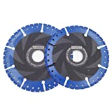 DT-DIATOOL Metal Cutting Discs Set Diam 4.5 Inch and 5 Inch - All Purpose Diamond Cut-Off Wheel for Steel Pipe Stone Reinforced Concrete Iron (Color: Black and Blue, Tamaño: 4.5 inch and 5 inch)