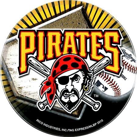 "Pittsburgh Pirates 4.5"" Round Vinyl Baseball Decal"