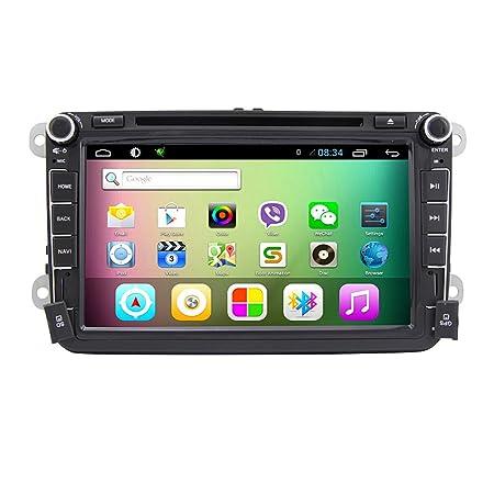 """Rungrace Autoradio A Ecran Tactile LCD TFT 8"""" Double DIN pour Tableau de Bord avec Lecteur MultimšŠdia/Navigation Pour Volkswagen (RL-521AGDR"""