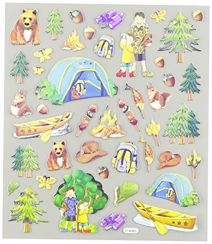 Multi-Colored Stickers-Camping Trip