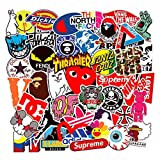 Street Fashion Sticker Decals(101pcs), BENYU Supreme Laptop Vinyl Stickers for Waterbottle,Hydro Flask,Snowboard,Luggage,Motorcycle,iPhone,MacBook,Wall,DIY Party Supplie Patches Decal