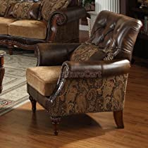 Big Sale Acme 05497 Dreena Bonded Leather Chair with Pillow