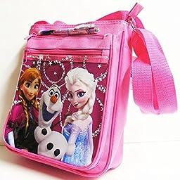 Disney Frozen Elsa Snow Blue Big Shoulder Bag with Beautiful Pen