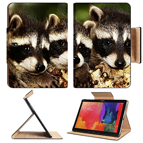 Raccoon Baby Three Hide Face Samsung Note Pro 12.2 Flip Case Stand Smart Magnetic Cover Open Ports Customized Made To Order Support Ready Premium Deluxe Pu Leather Liil Professional Graphic Background Covers Designed Model Folio Sleeve Hd Template Designe front-776702