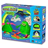 Magnetic Sand Deluxe Monster Set - 1lb Glow In The Dark Sand With UV Light Pen, Glasses, Molds, And