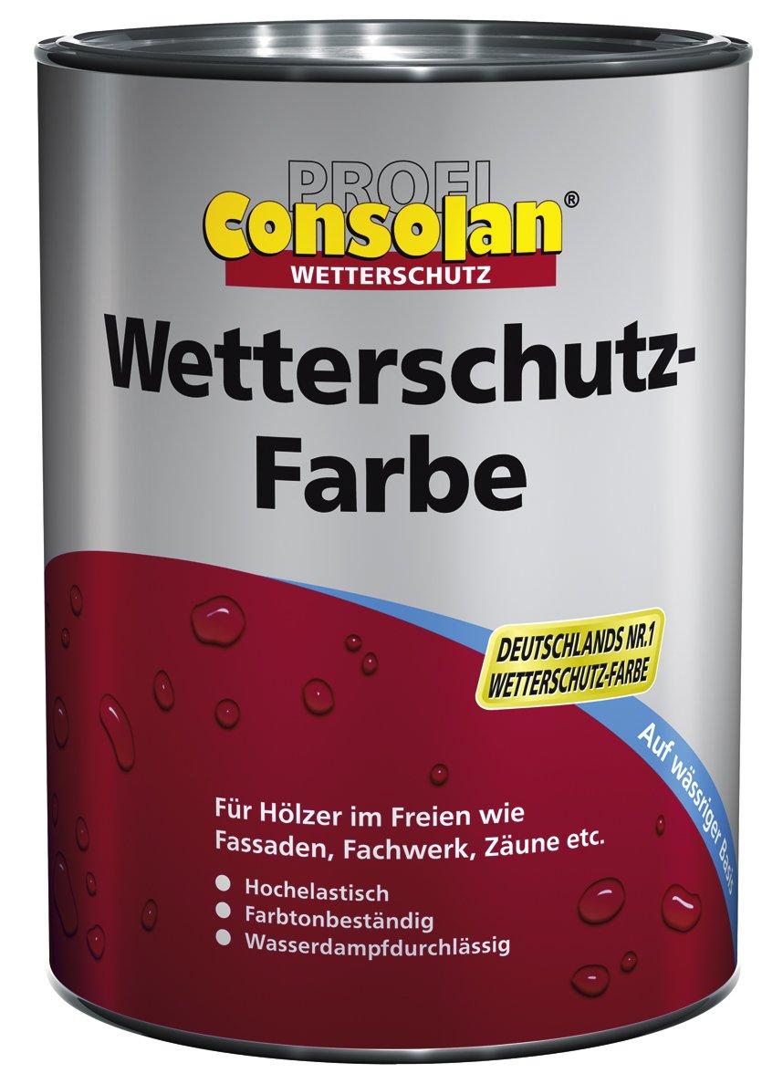 Consolan Profi Wetterschutzfarbe RM 201 weiss 10 Liter  BaumarktKundenbewertung und weitere Informationen