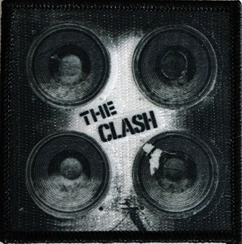 "THE CLASH Speakers, Officially Licensed Original Artwork, Premium Quality Iron-On / Sew-On, 3"" x 3"" Embroidered PATCH toppa"
