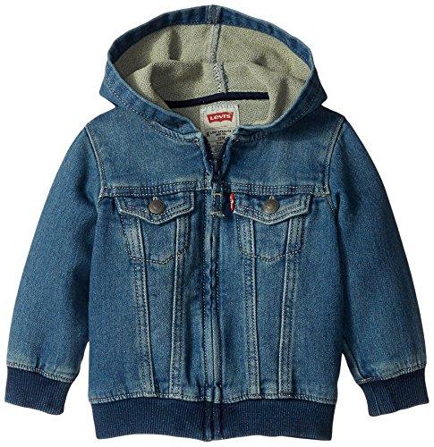 Levi's Baby Boys' Indigo Knit Denim Hoodie, Waverly, 18 Months