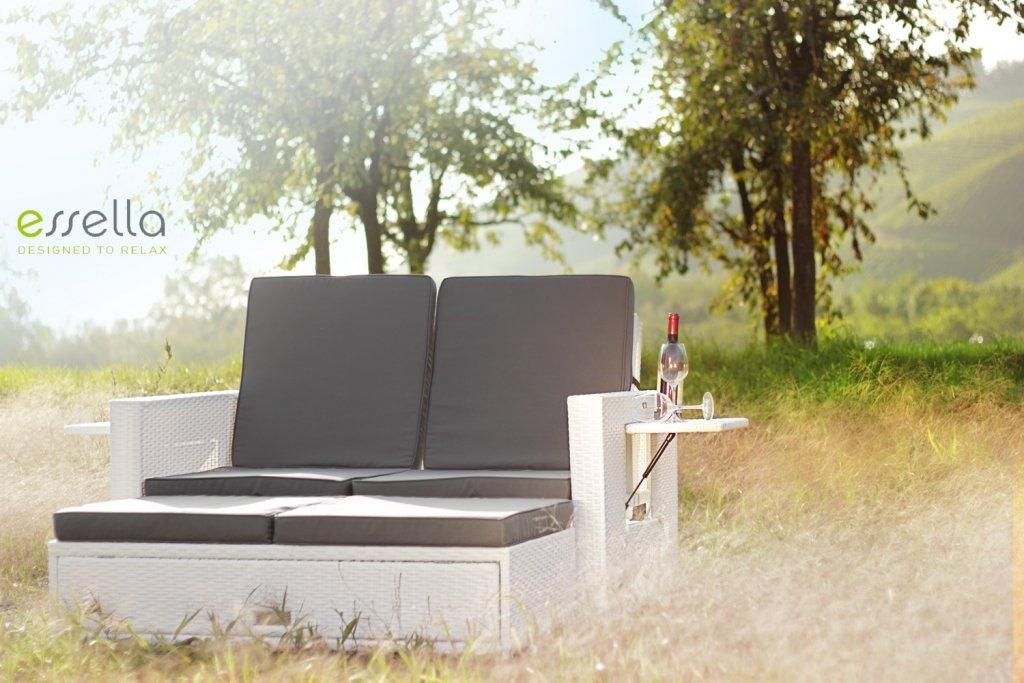 essella Polyrattan Garnitur Milano in Weiß günstig online kaufen