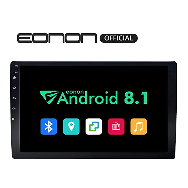 """GA2168K Double 2 Din 10.1/"""" Android 8.1 Quad Core Car Stereo GPS Navigation Audio"""