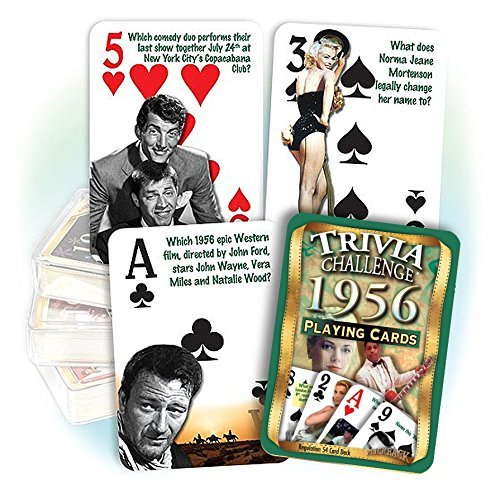 Flickback 1956 Trivia Playing Cards: 60th Birthday or 60th Anniversary Gift