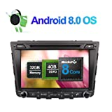 Flynavigo 8 Inch Android 8.0 Octa Core 4GB Ram 32GB Rom Car Radio Stereo for Hyundai Ix25/Creta 2014- with GPS DVD Player support 3G/WIFI/AV Output/Rear View Camera/1080P Video/Bluetooth/FM/AM/USB DVR