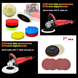 Toolman 21pcs Electric Polisher with Hook and Loop Sandpaper with Safety goggle Glasses and Tool Bag works with DeWalt Makita Accessories