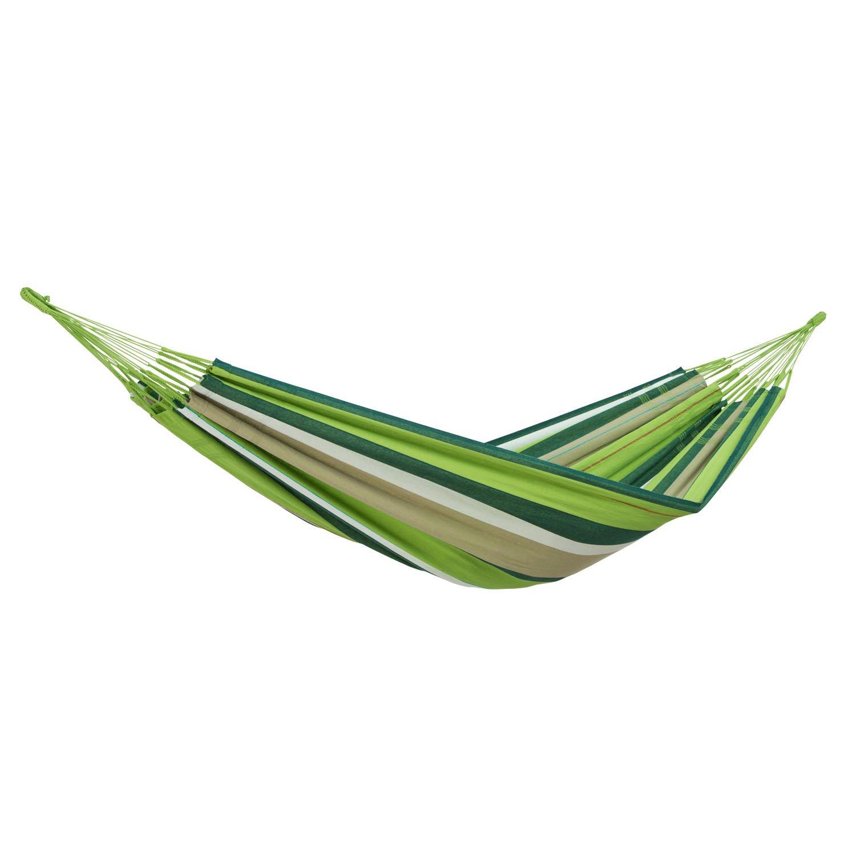 XXL Hängematte Amazonas Colombiana in Oliva, Für Den Garten, Schaukel-Stoff Sonnenbaden Relaxliege Hängematte, Grün