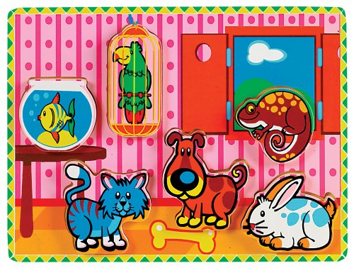 Small World Toys Ryan's Room Wooden Puzzle - Chunky Pets