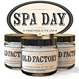 Scented Candles - Spa Day - Set of 3: Cucumber, Lemongrass, and Green Tea - 3 x 4-Ounce Soy Candles