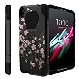Untouchble Case for [ Alcatel Idol 3 (5.5') Case, Idol 3] Kickstand Case Shock Absorbing Drop Protection Dual Layer Case - Pink Cherry Blossoms (Color: Pink Cherry Blossoms)