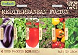 620 Vegetable & Herb Seeds: Aubergine/Eggplant/Rocket Salad/Tomato San Marzano/Oregano/Sweet Pepper/Basil (6 in 1) MULTI-BUY DISCOUNT Mediterranean Fusion