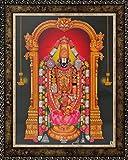 Avercart Lord Balaji / Tirupati Balaji / Venkateswara / Lord Vyankatesh Poster 8.5x11 inch with Photo Frame (21x28 cm framed)