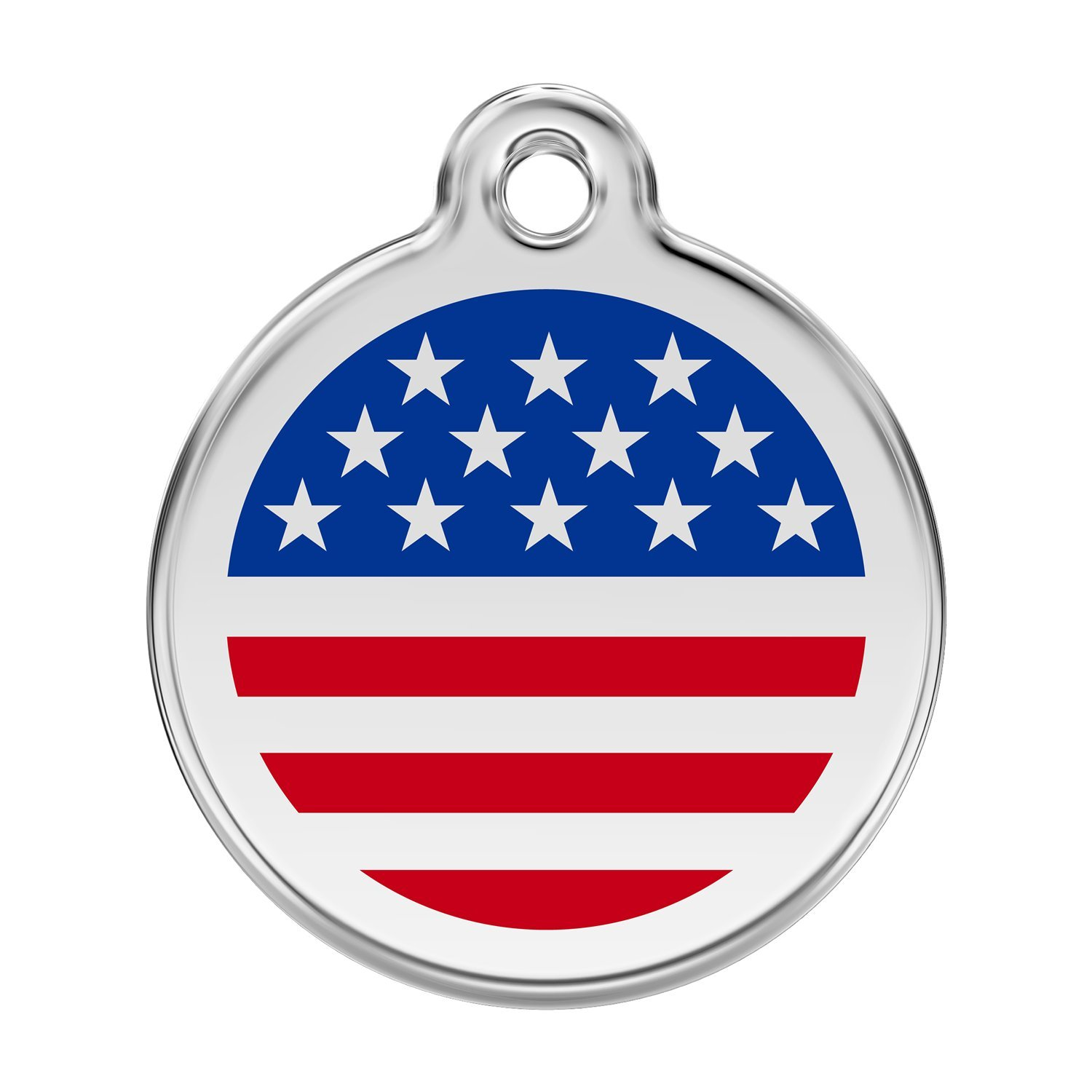Red Dingo Custom Engraved Stainless Steel and Enamel Dog ID Tag - Stars & Stripes футболка lasting dingo 6262 xl мужская