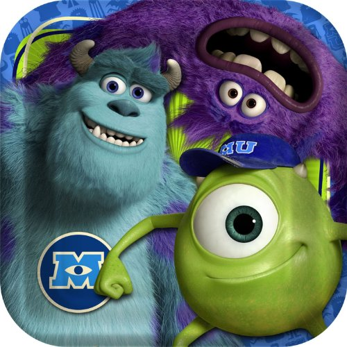 Monsters University Lunch Plates 8ct - 1