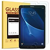 SPARIN [2 Pack] Galaxy Tab A 10.1 Screen Protector, SM-T580 Model, 0.3mm Tempered Glass, Bubble-Free, Scratch Resistant Screen Protector for Samsung Galaxy Tab A 10.1 (Color: HD Clear)