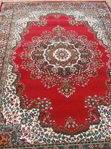 NEW TRADITIONAL CLASSIC EXTRA LARGE BIG RED RUG 240 x 330cm