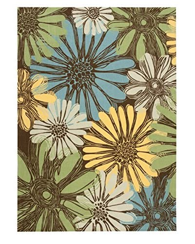 Nourison Home and Garden Rug, Brown, 5'3X7'5