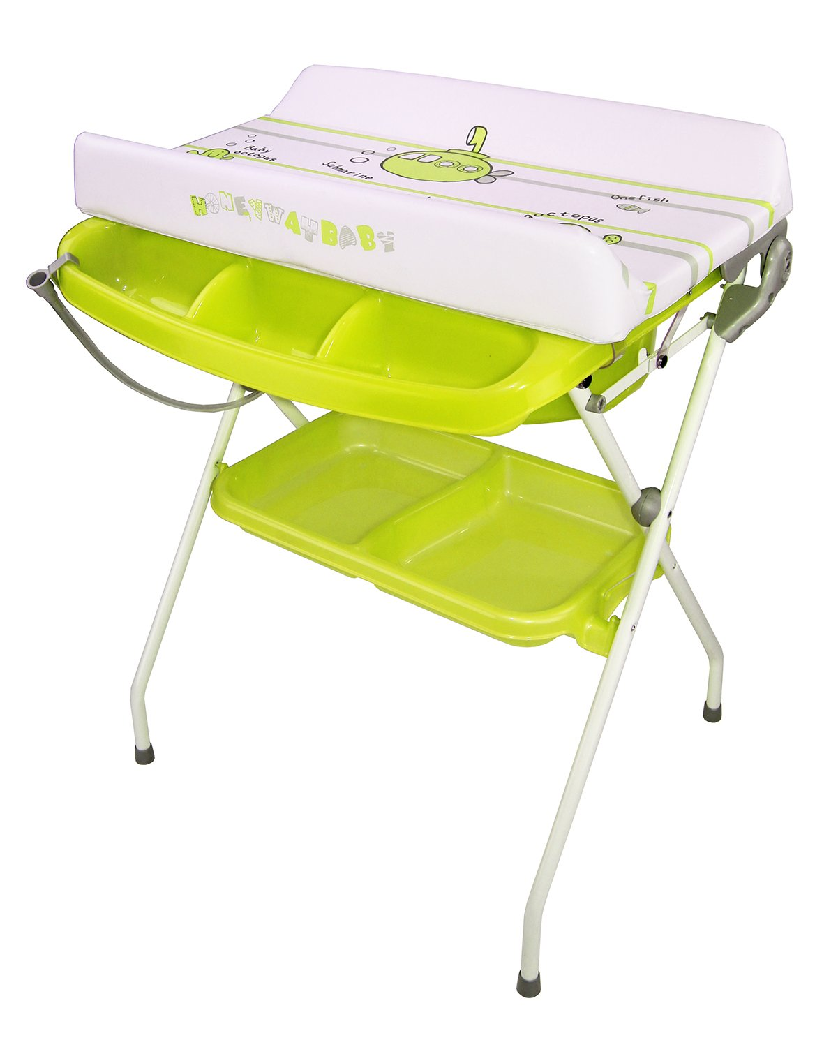 Amazon.com : Fold Down Baby Changing Table Apple Design (Green ...