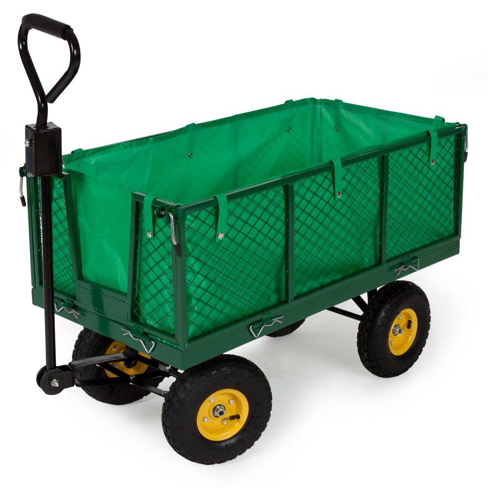 TecTake® Bollerwagen Handwagen Handkarren mit Luftbereifung und Plane 550kg  BaumarktKundenbewertung: