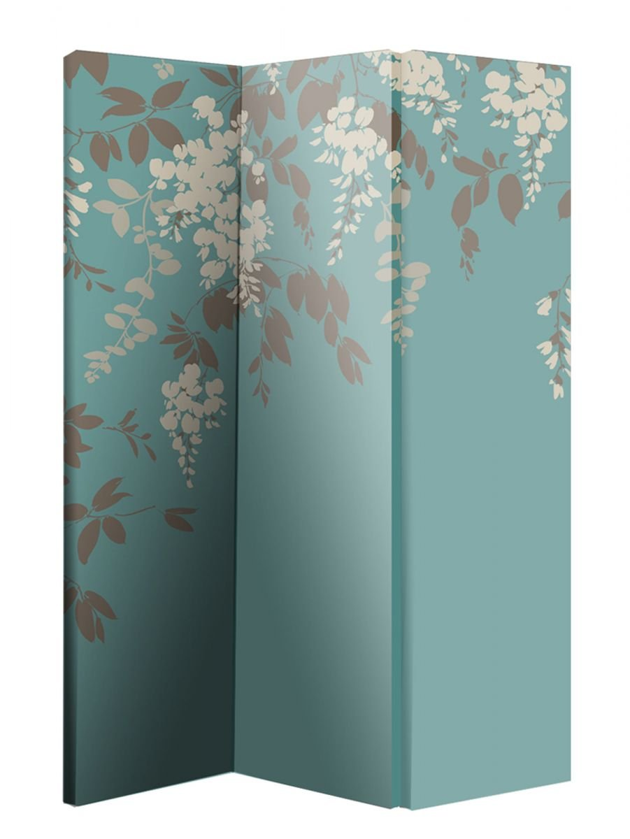 Arthouse Room Divider Screen 3 Panels 2 Fold Wisteria 180cm x 120cm x 2.5cm (008004)       Customer review and more information