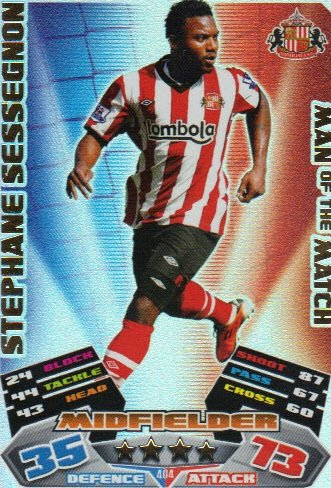 Match Attax 2011/12 Man of the Man SUNDERLAND 404 Stephane Sessegnon [Toy]