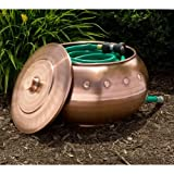 "Riveted Copper Hose Pot - With Lid - Antique Copper - 18-1/2"" x 12-1/2"""