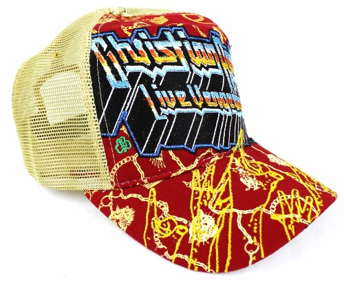 New Christian Audigier Live Vengeance'58 Premium Red Trucker Hat Cap