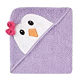 Luvable Friends ラバブルフレンズ Animal Face Hooded Towel アニマル フェイス フード付きバスタオル Purple Penguin パープルペンギン ランキングお取り寄せ