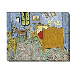 The Bedroom by Vincent Van Gogh Custom Gallery-Wrapped Canvas Giclee Art (Ready to Hang) (Medium)