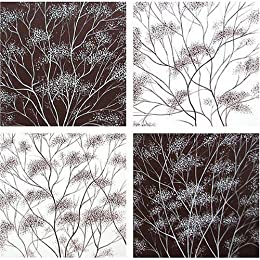 Product Image Willow Morning, Willow Night Original Hand-Painted Oil on Canvas 4-pc. Set