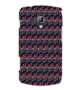 Mask Pattern 3D Hard Polycarbonate Designer Back Case Cover for Samsung Galaxy S Duos 2 S7582