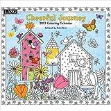 壁掛け[ラング LANG]塗り絵 カレンダー 2017年/CHEERFUL JOURNEY Debi Hron 絵画 アート