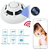 UFO Spy Camera Wifi Wireless Camera Detector Security System HD Camcorder 1080P Hidden Camera DV APP Remote Control Cam with Motion Detection Surveillance Cameras for Home Office