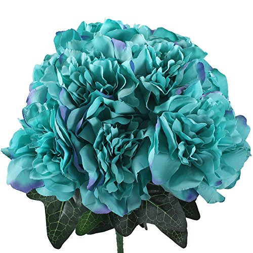 Gtidea Artificial Dahlia Silk Flowers Bouquet Arrangements Bridal Home Garden Office Dining Table Wedding Decor Light (Party City In Coral Springs)