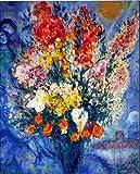 マルク シャガール◆【天に捧げる花束】◆アートプリントポスター