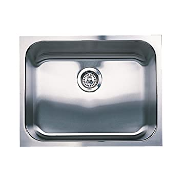 Blanco 501-104 Spex Single Bowl Undermount Kitchen Sink, Satin Finish