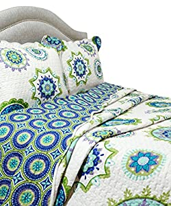 Pegasus Home Fashions Vintage Collection Nicole Quilt/Sham Set, Full/Queen