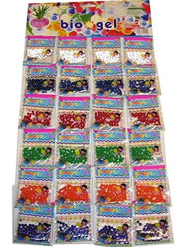 24 Bags Water Beads Aqua Gems Bio Gel Balls Crystal Soil Wedding Vase Decoration by Gadgets Hut UK