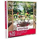 SMARTBOX - Cofanetto Regalo -FUGA DI TRE GIORNI, DUE CENE 2 notti con colazione e 2 cene per 2 persone