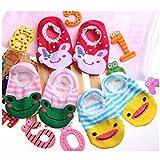 lesmartzyn (TM) 2Pairs/lot Cute unisex Baby Kids infantil ni�a ni�o Anti-Slip Calcetines Cortos Zapatos Zapatillas 6�-�24�meses beb� wear calcetines de beb�