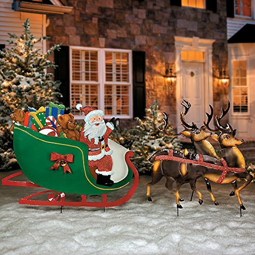 Santa Claus Lawn Decorations: Santa Claus Yard Stakes