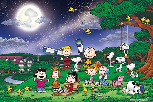 Peanuts Snoopy Under the Full Moon 1000 Pieces Jigsaw Puzzle (Finished Size: 29.5