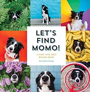 Book Cover: Let's Find Momo!: A Hide-and-Seek Board Book